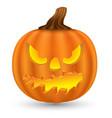 pumpkin monster face vector image