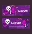 purple halloween holiday banner design