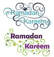 Ramadan Kareem Icon Set on English vector image vector image