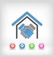 real estate handshake vector image