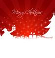 Santa Claus bringing gifts to the tree vector image