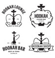 set of hookah labels badges and design elements vector image