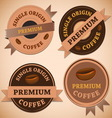 Set of vintage retro coffee badges vector image vector image