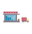 shop and delivery service vector image vector image