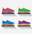 Side View Of Running Shoes On Shelf vector image vector image