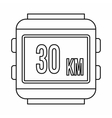 Speedometer bike icon outline style vector image vector image