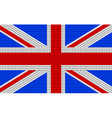 UK flag embroidery design pattern vector image vector image