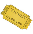 Vintage Cinema Ticket vector image vector image