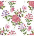 vintage pattern with flowers vector image