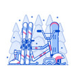 winter sports vector image