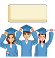 young students cartoons vector image