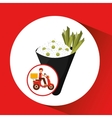 delivery boy ride motorcycle japan dinner vector image