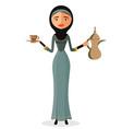 arab girl cartoon vector image