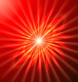 Bright space star in bright red vector image