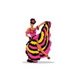 Cancan girl sign French woman dancer in a vector image