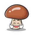 laughing mushroom character cartoon vector image