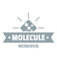 molecule science logo simple gray style vector image