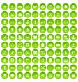 100 gear icons set green circle vector image vector image