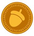 acorn digital coin vector image vector image
