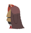 angry muscular viking male scandinavian warrior vector image vector image