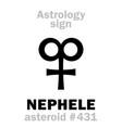 astrology asteroid nephele vector image vector image