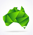 australia map folded paper origami vector image vector image
