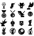 Award icons set simple style vector image vector image