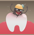 bad monster is digging vector image vector image