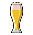 beer glass icon vector image vector image