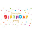 birthday festive background party invitation vector image vector image