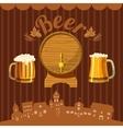 Brewery concept cartoon style vector image vector image