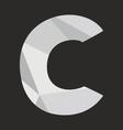 C low poly alphabet letter on black background vector image