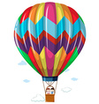Children riding in the hotair balloon vector image vector image