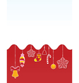 christmas red card vector image