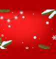 christmas wishes card template vector image vector image