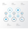 clothes colorful icons set collection of man vector image vector image