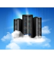 Cloud computing poster vector image vector image
