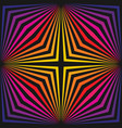 colorful geometric pattern with diagonal lines vector image
