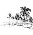 copacabana beach rio de janeiro brazil vector image
