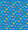 coral reef fish seamless pattern vector image vector image