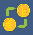 Currency exchange Euro and Bengali Rupee vector image vector image