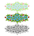daisy flowers horizontal big vector image