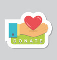 donate buttons set help icon donation vector image vector image