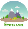 ecotravel1 vector image vector image