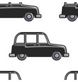 english cab seamless pattern car or taxi london vector image vector image