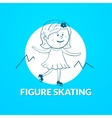 Figure skating logo vector image