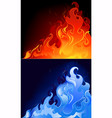 gas flames vector image vector image