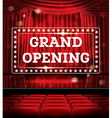 Grand Opening Open Red Curtains vector image vector image