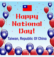 happy national day taiwan vector image vector image
