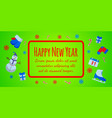 happy new year banner and giftcard vector image